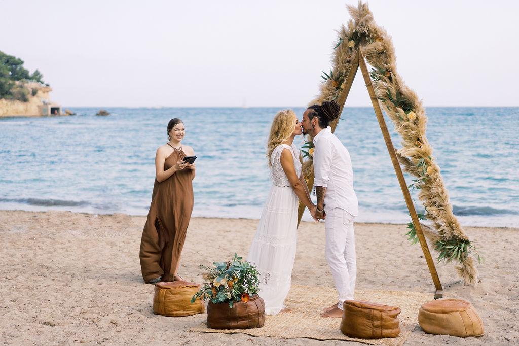 Ibiza Beach Wedding Venue: The Beach Rustic Wedding