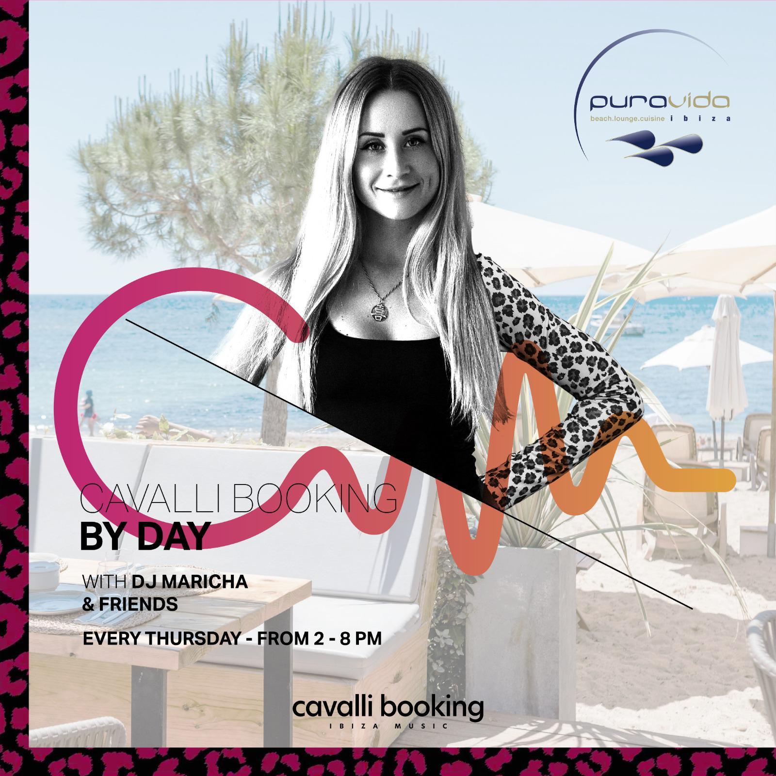 Dj Maricha and friends with Cavalli Booking by Day 2021 at Pura Vida Beach club