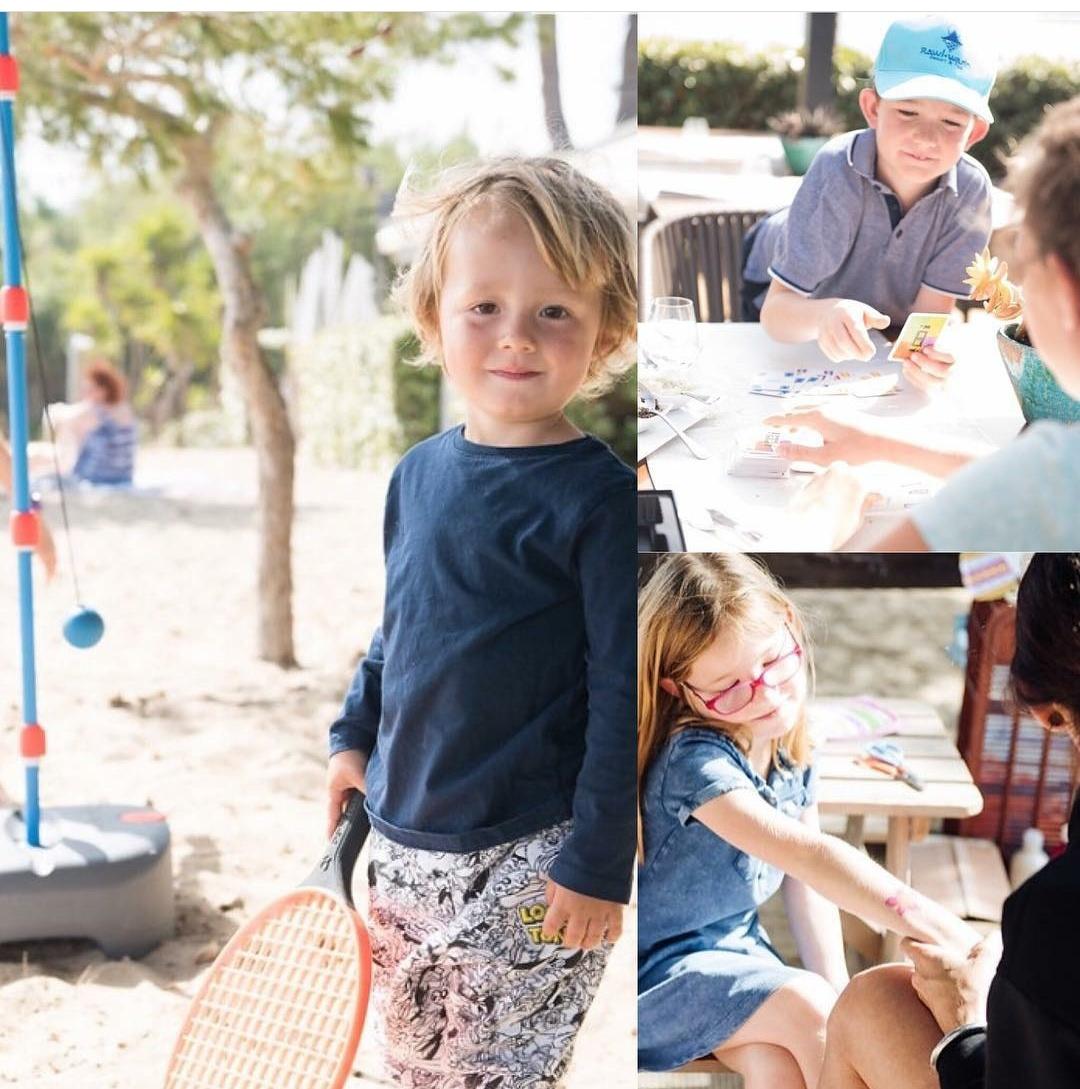 Kids in Ibiza at Pura Vida Beach Club